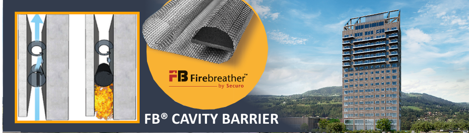 New: Cavity fire barrier for ventilated rainscreen cladding facades