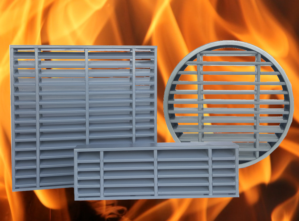 How to insure a free air flow ventilation and effective fire protection?